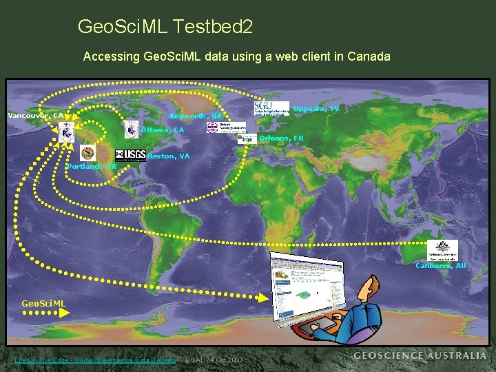 Geo. Sci. ML Testbed 2 Accessing Geo. Sci. ML data using a web client