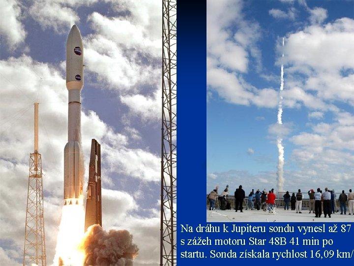 Na dráhu k Jupiteru sondu vynesl až 87 s zážeh motoru Star 48 B