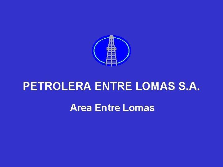 PETROLERA ENTRE LOMAS S. A. Area Entre Lomas