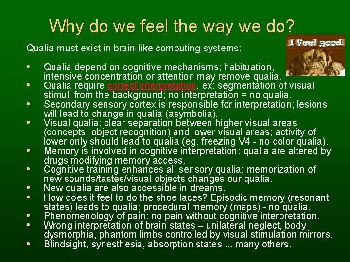 Why do we feel the way we do? Qualia must exist in brain-like computing