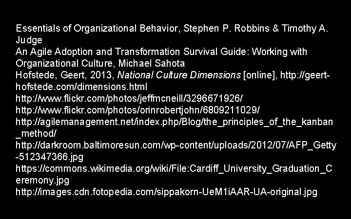 Essentials of Organizational Behavior, Stephen P. Robbins & Timothy A. Judge An Agile Adoption
