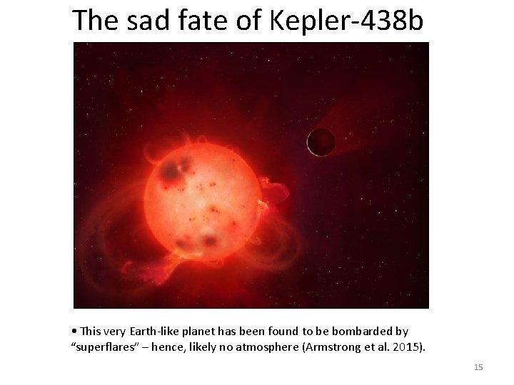 The sad fate of Kepler-438 b • This very Earth-like planet has been found
