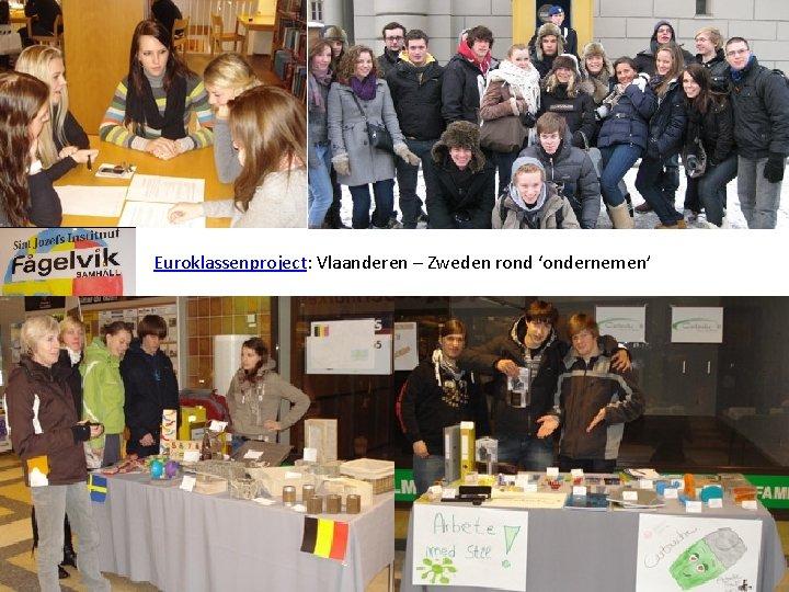 Euroklassenproject: Vlaanderen – Zweden rond 'ondernemen'