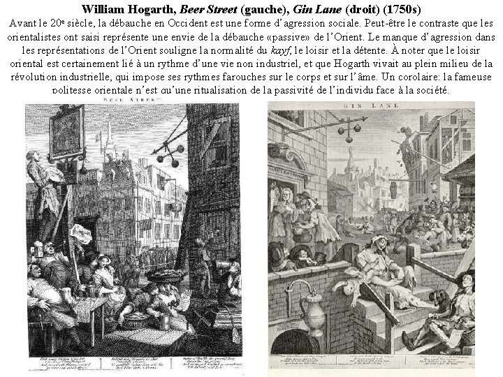 William Hogarth, Beer Street (gauche), Gin Lane (droit) (1750 s) Avant le 20 e