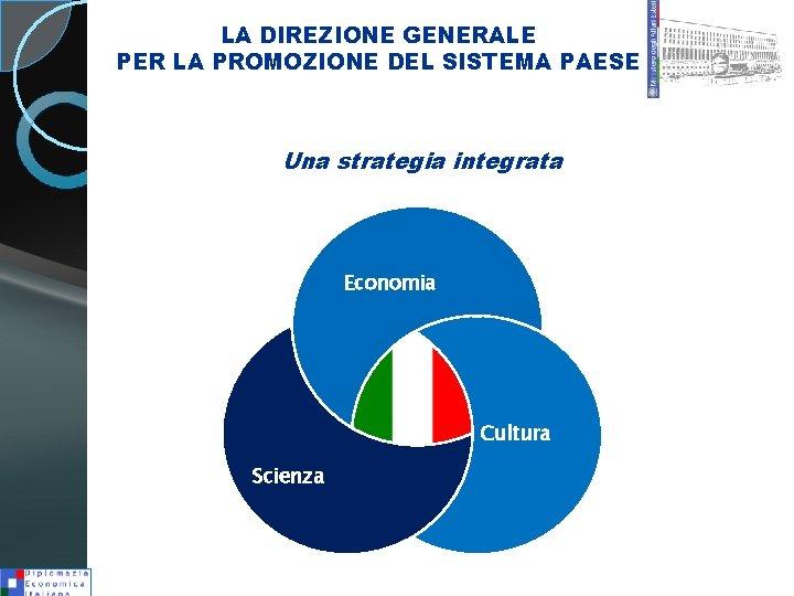 LA DIREZIONE GENERALE PER LA PROMOZIONE DEL SISTEMA PAESE Una strategia integrata Economia Cultura