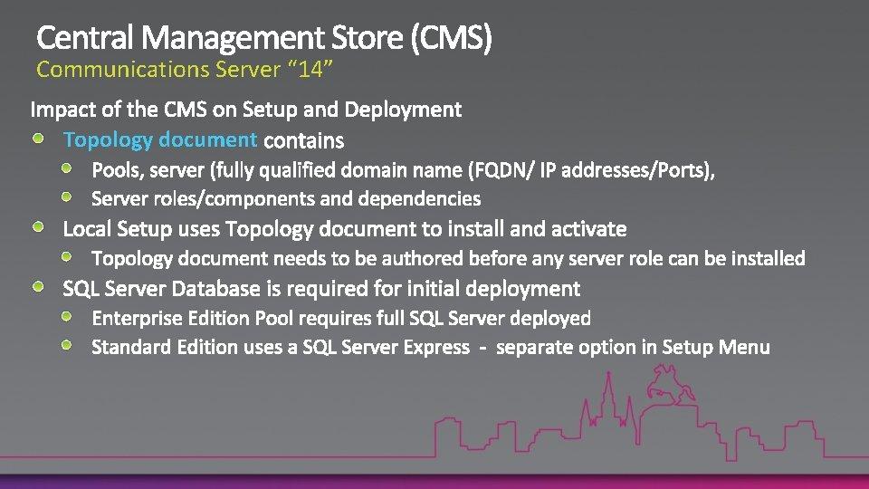 "Communications Server "" 14"" Topology document"