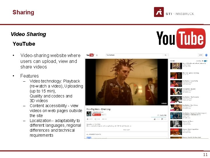 Sharing Video Sharing You. Tube • Video-sharing website where users can upload, view and