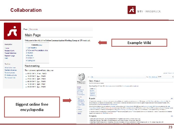 Collaboration Example Wiki Biggest online free encyclopedia 23 23