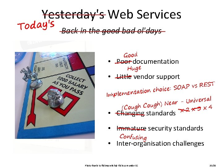 Yesterday's Web Services Today's Back in the good bad ol'days Good • Poor documentation