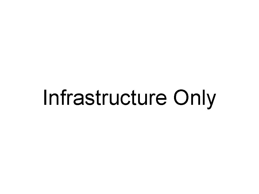 Infrastructure Only