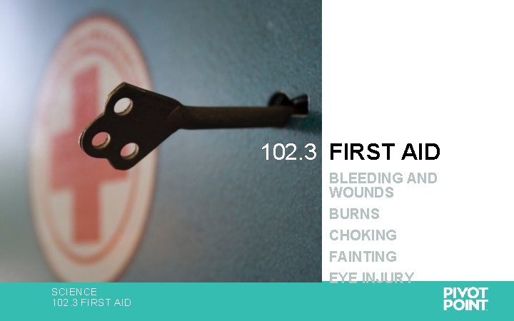 102. 3 FIRST AID BLEEDING AND WOUNDS BURNS CHOKING FAINTING SCIENCE 102. 3 FIRST