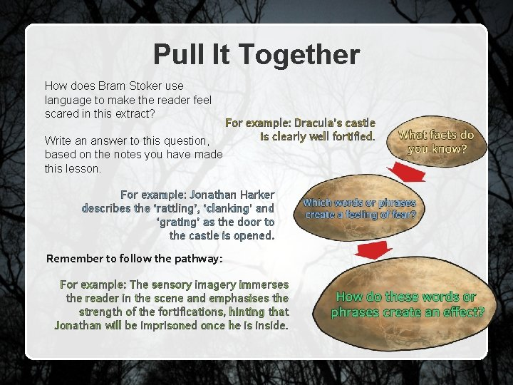 Pull It Together How does Bram Stoker use language to make the reader feel