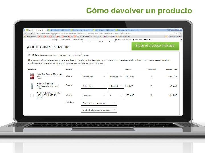 Cómo devolver un producto Sigue el proceso indicado.