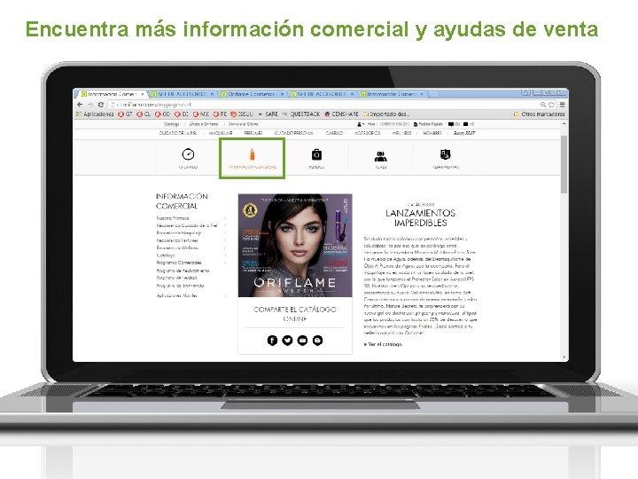Encuentra más información comercial y ayudas de venta