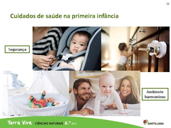 23 Cuidados de saúde na primeira infância Segurança Ambiente harmonioso