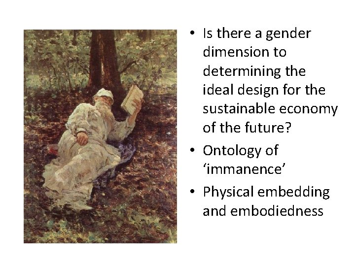 • Is there a gender dimension to determining the ideal design for the