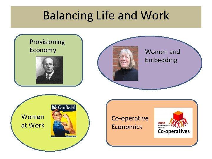 Balancing Life and Work Provisioning Economy Women at Work Women and Embedding Co-operative Economics