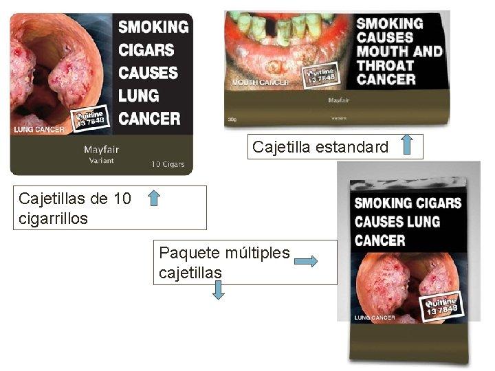 Cajetilla estandard Cajetillas de 10 cigarrillos Paquete múltiples cajetillas