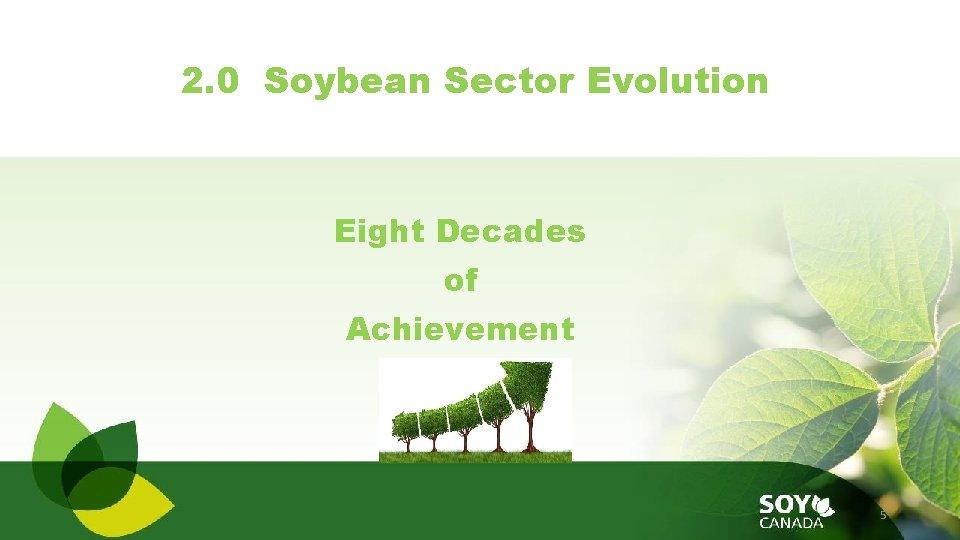 2. 0 Soybean Sector Evolution Eight Decades of Achievement 5