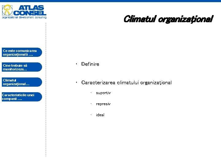 Climatul organizaţional Ce este comunicarea organizaţională …. Cine trebuie să monitorizeze… Climatul organizaţional… Caracteristicile