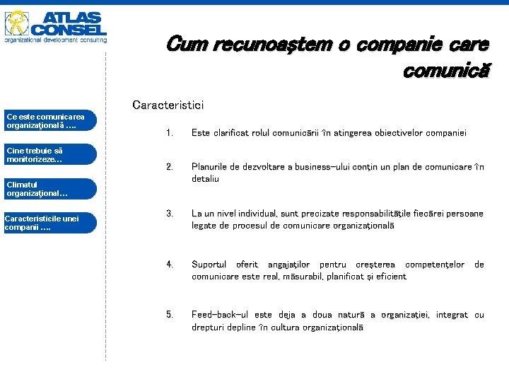 Cum recunoaştem o companie care comunică Caracteristici Ce este comunicarea organizaţională …. Cine trebuie