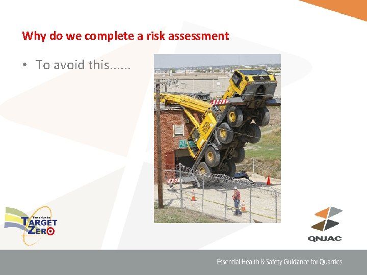 Why do we complete a risk assessment • To avoid this. . .