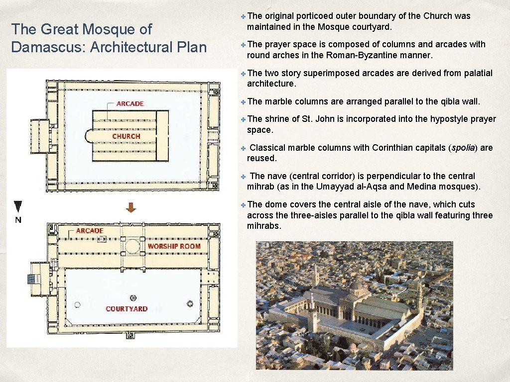 The Great Mosque of Damascus: Architectural Plan ✤ The original porticoed outer boundary of