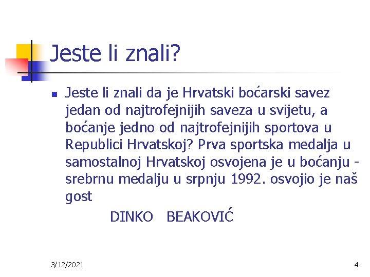 Jeste li znali? Jeste li znali da je Hrvatski boćarski savez jedan od najtrofejnijih