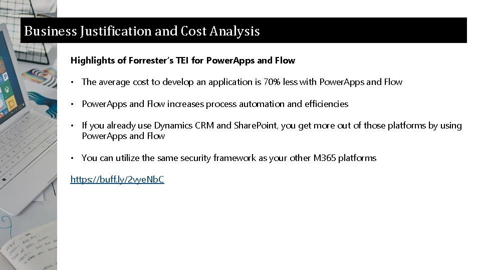Business Justification and Cost Analysis Highlights of Forrester's TEI for Power. Apps and Flow