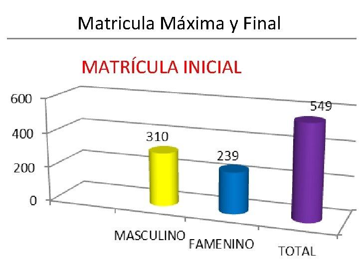 Matricula Máxima y Final MATRÍCULA INICIAL