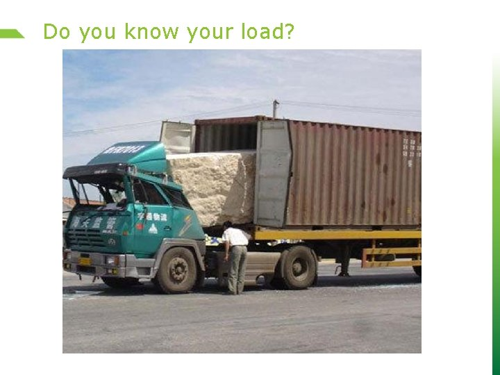 Do you know your load?