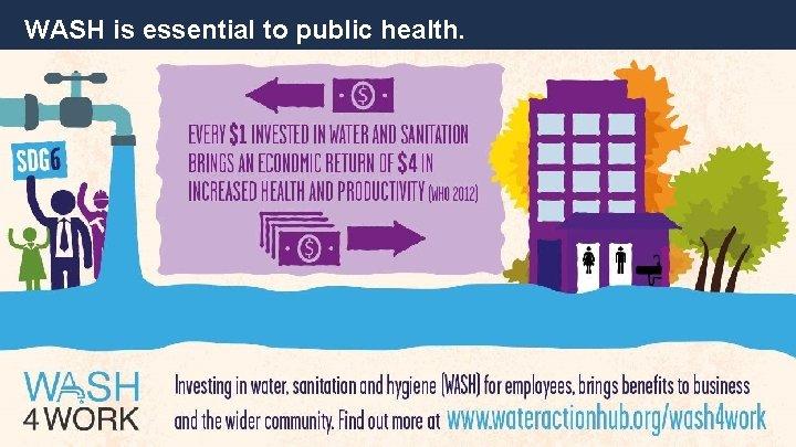 WASH is essential to public health.