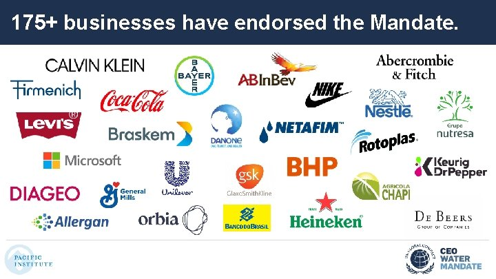 175+ businesses have endorsed the Mandate.