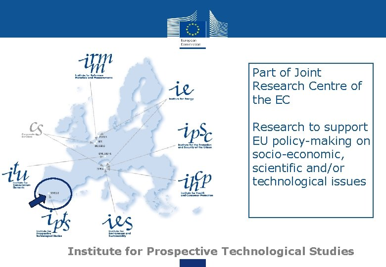 Part of Joint Research Centre of the EC Research to support EU policy-making on