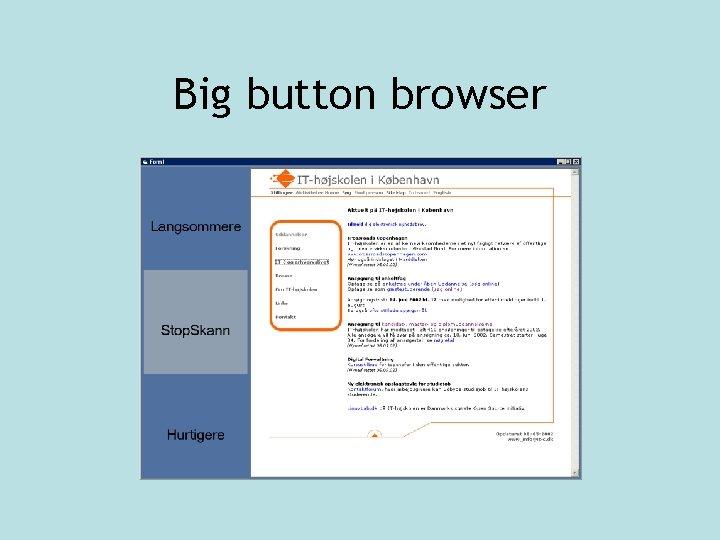 Big button browser