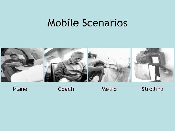Mobile Scenarios Plane Coach Metro Strolling
