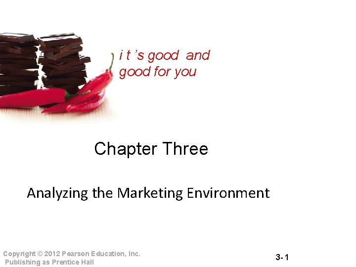 i t 's good and good for you Chapter Three Analyzing the Marketing Environment