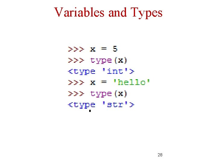 Variables and Types 28