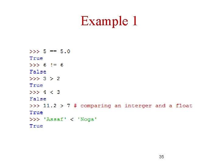 Example 1 35