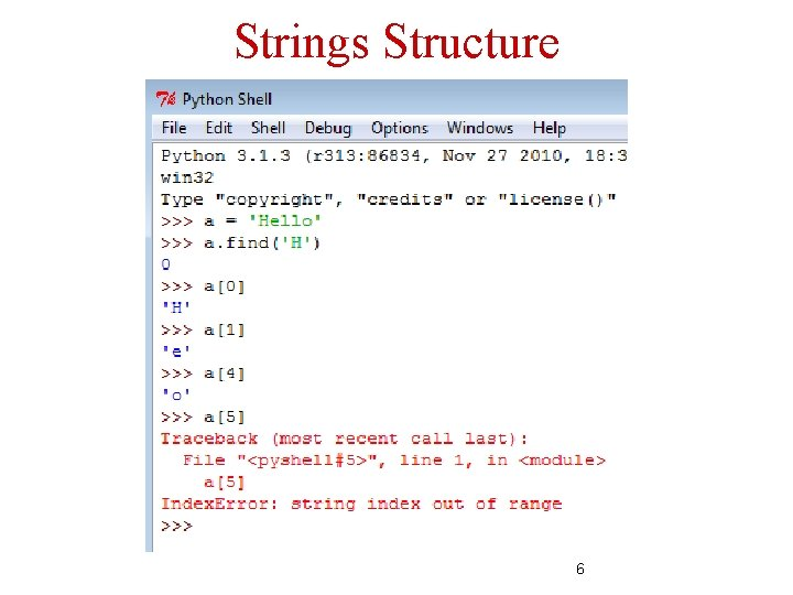 Strings Structure 6