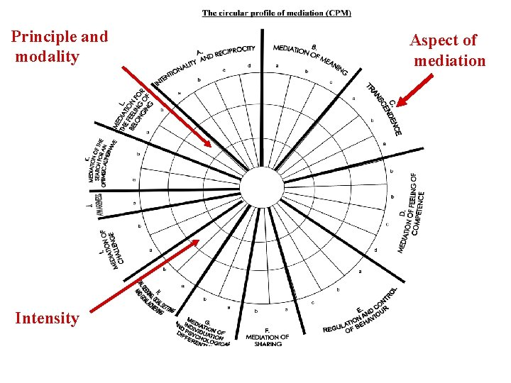 Principle and modality Intensity Aspect of mediation