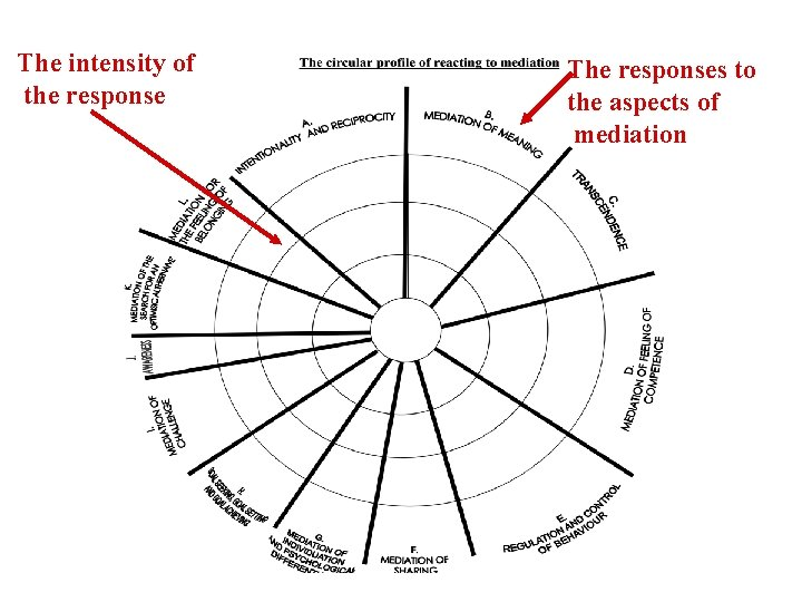The intensity of the response The responses to the aspects of mediation