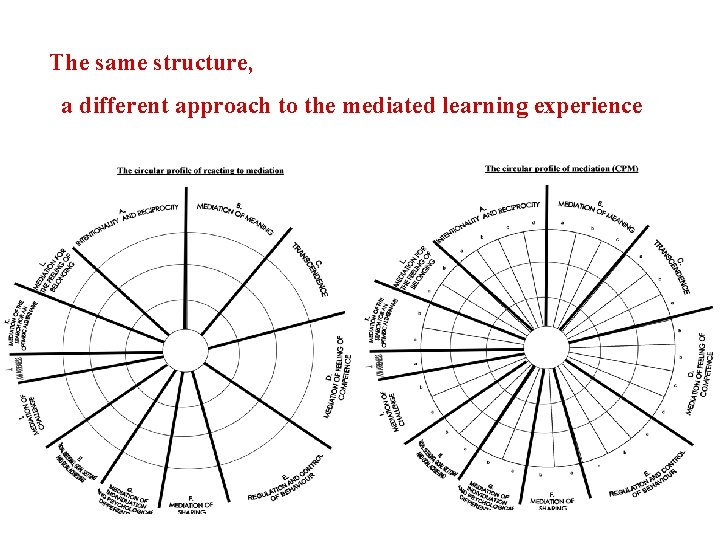 The same structure, a different approach to the mediated learning experience