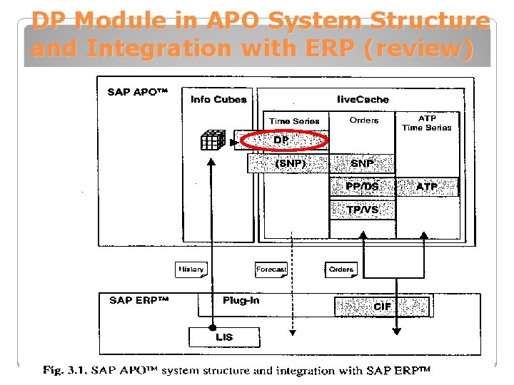 DP Module in APO System Structure and Integration with ERP (review)