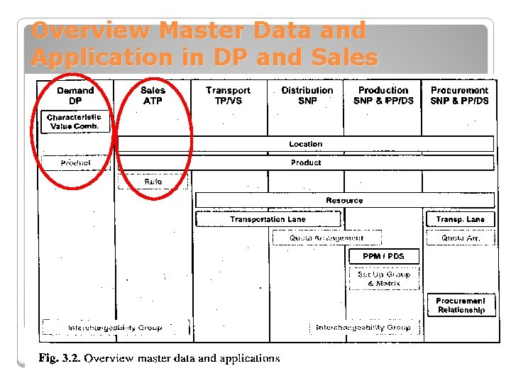 Overview Master Data and Application in DP and Sales