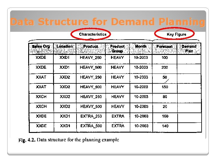 Data Structure for Demand Planning