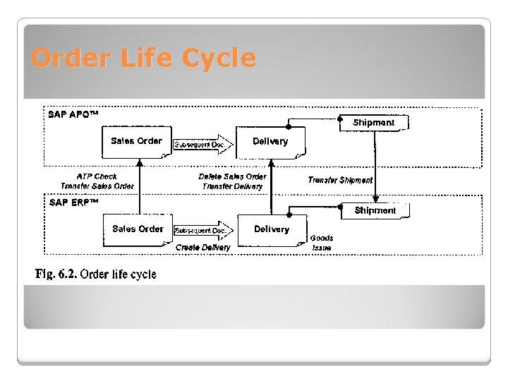 Order Life Cycle