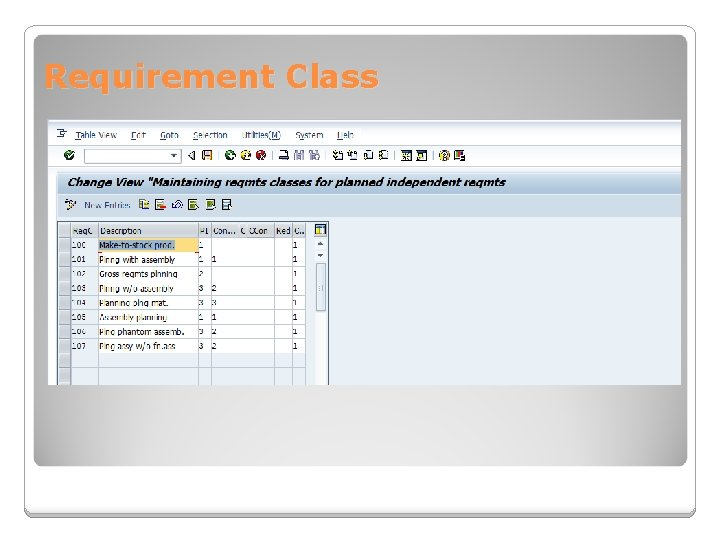 Requirement Class