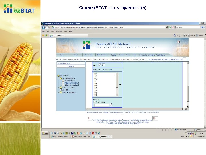 """Country. STAT – Los """"queries"""" (b)"""