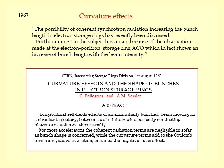 1967 Curvature effects